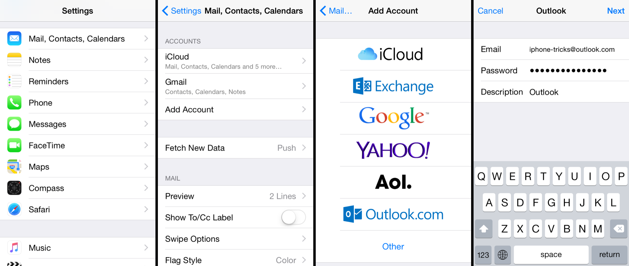 add email to iphone configure outlook hotmail in iphone 13359