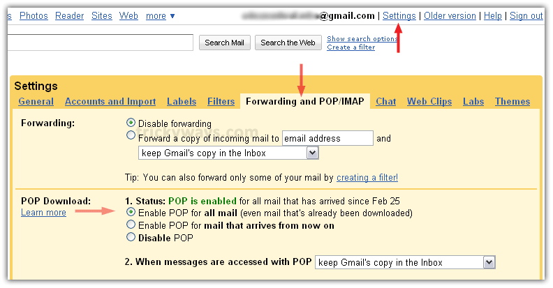 gmail account configure in outlook 2003