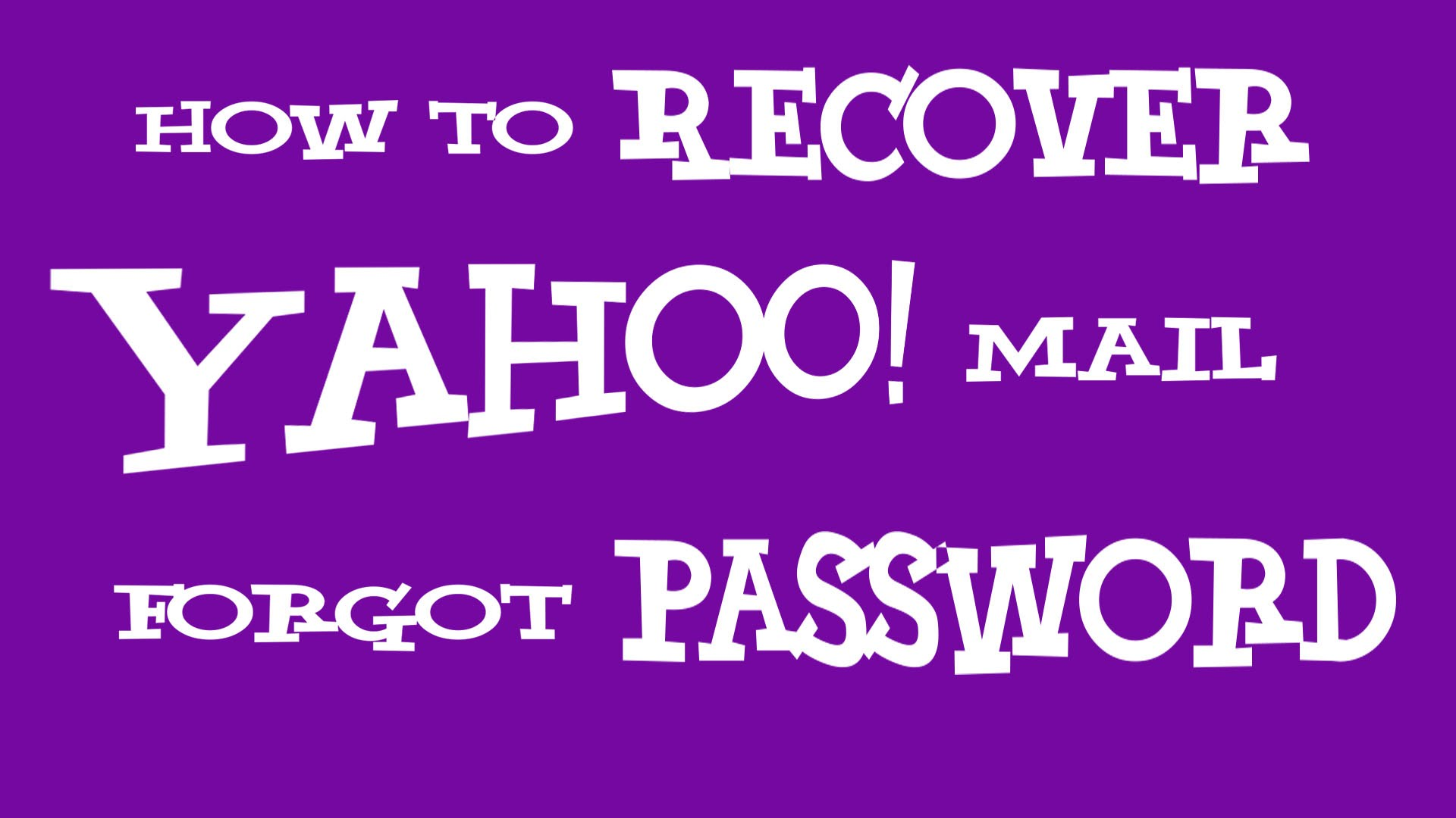 recover yahoo account new phone number