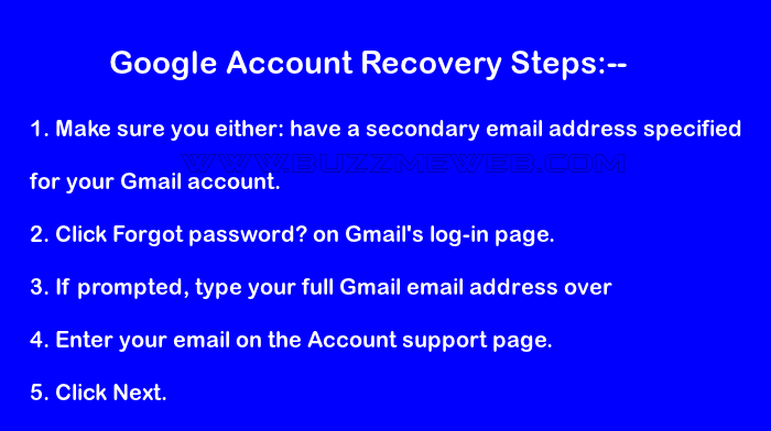 Simple Steps on Google Account Recovery - Password Recovery