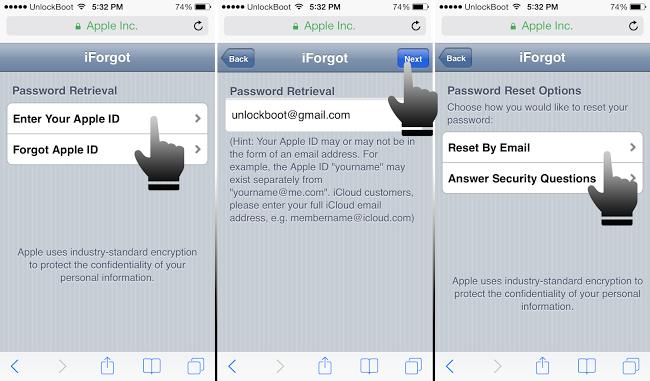how do you update your icloud password